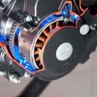 Stock Photo: Honda CBR250R dari sisi lensa micro 105mm